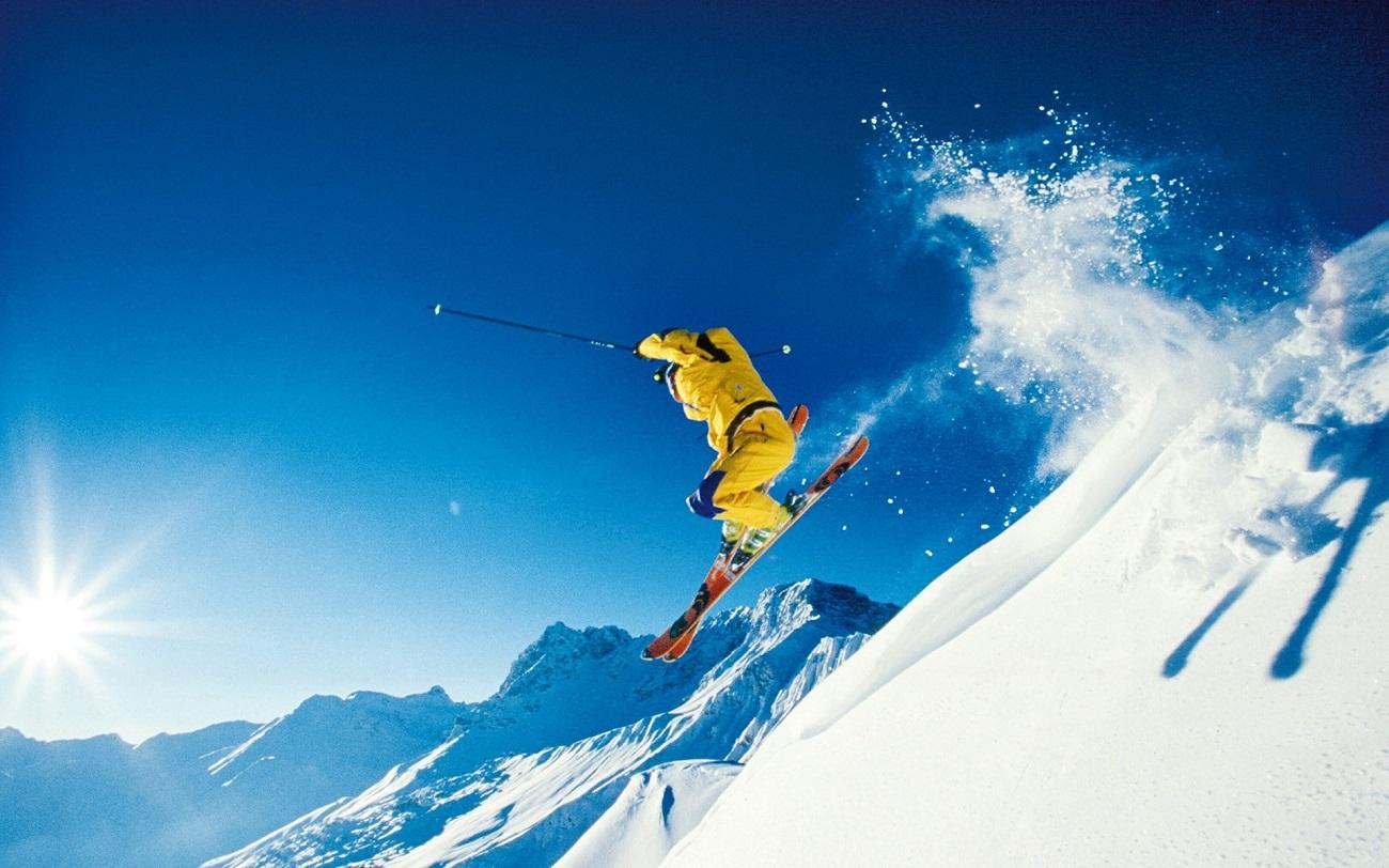 Ski pe pârtia din Berner, Alpii elveţieni