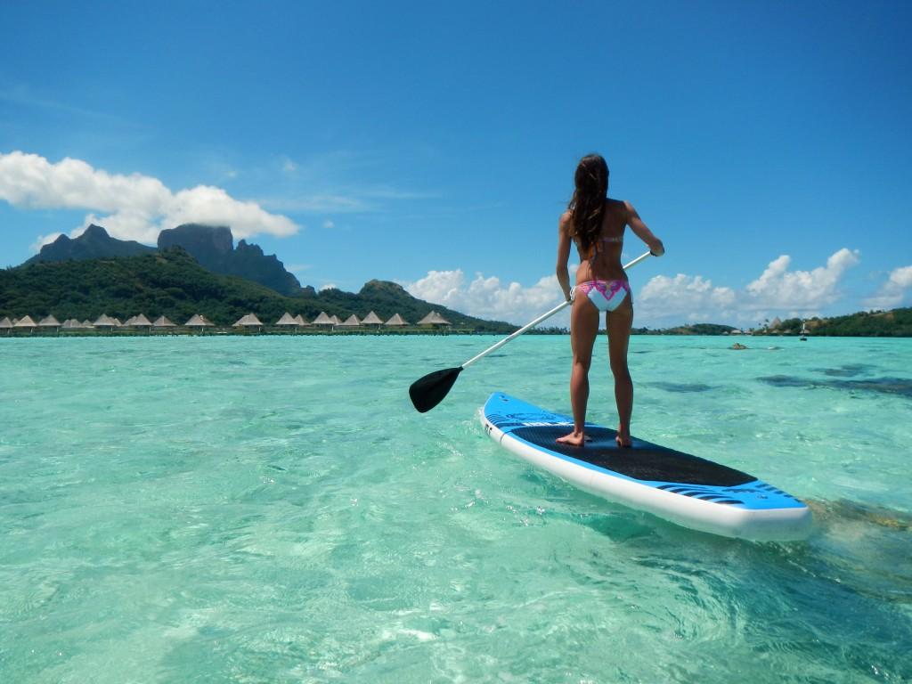 Sporturile acvatice nu lipsesc în Bora Bora