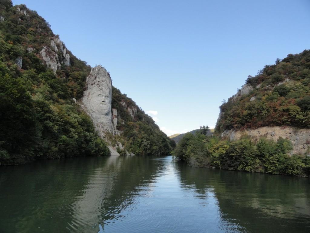 Statuia lui Decebal deasupra Dunarii