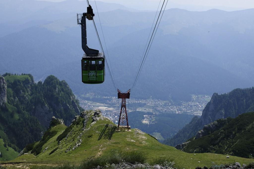 Telecabina este cel mai bun mod de a urca pe munte