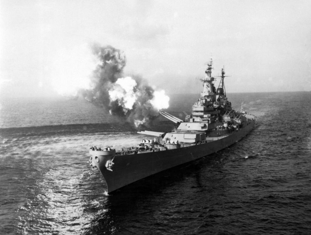 USS Missouri în timpul războiului din Koreea