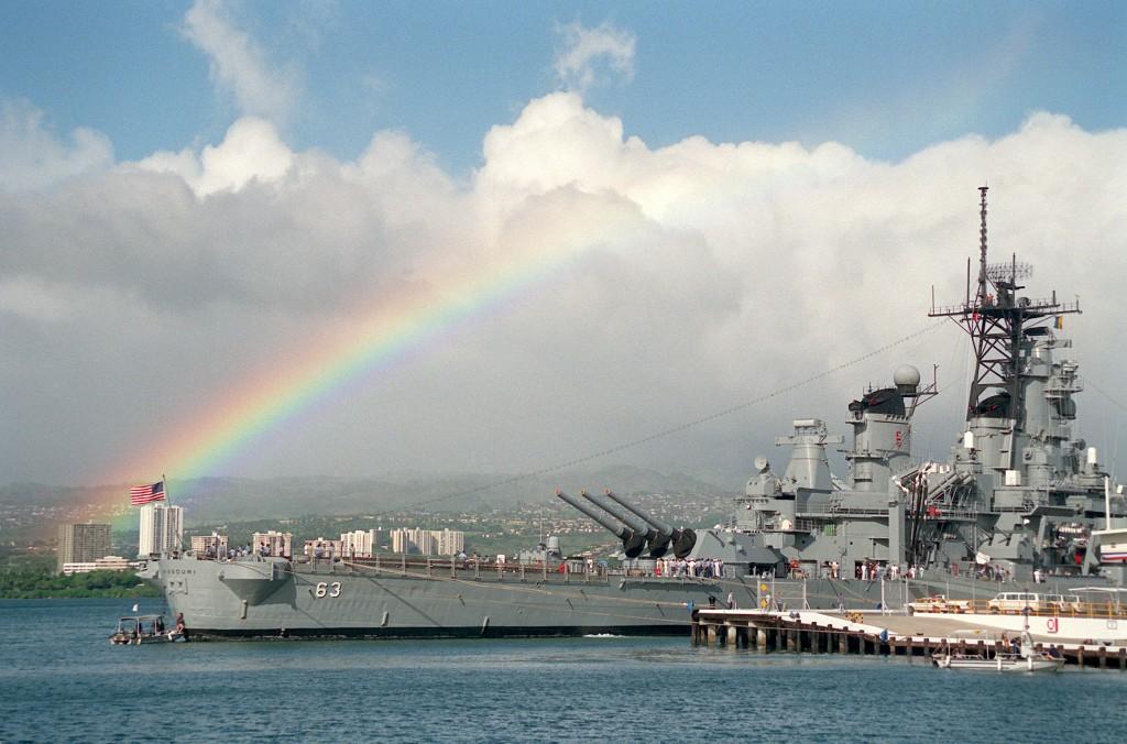 USS Missouri până la capătul curcubeului