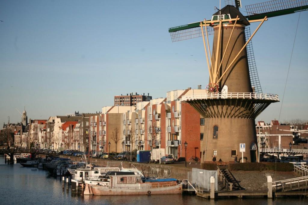 Una din morile de vânt din Rotterdam
