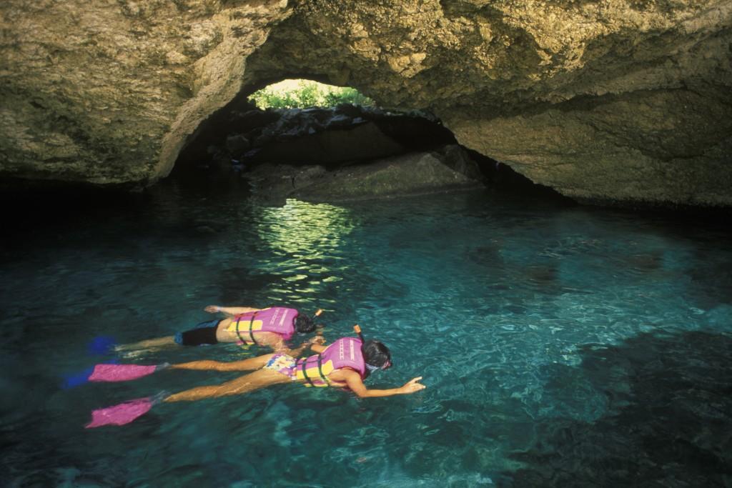 Xcaret, snorkeling la suprafață