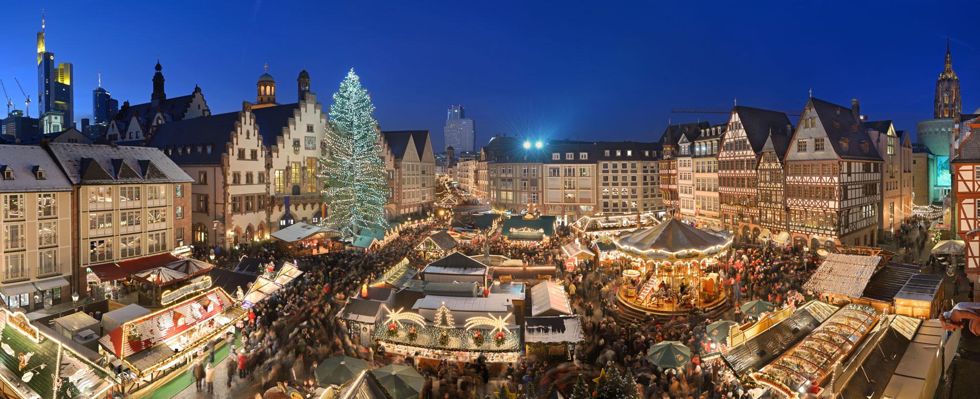 Atmosfera vibrantă de Crăciun din Frankfurt