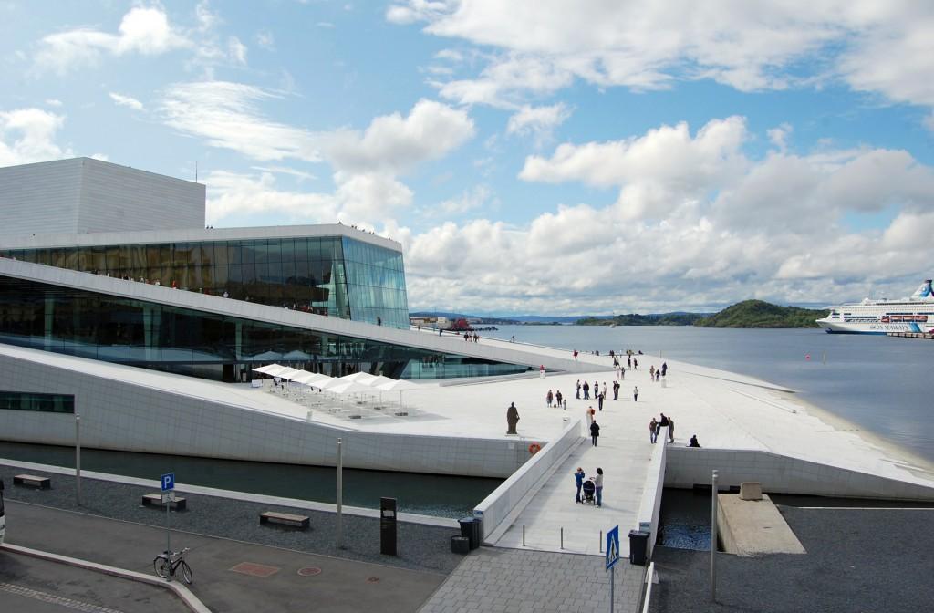 Pod de acces spre Opera din Oslo