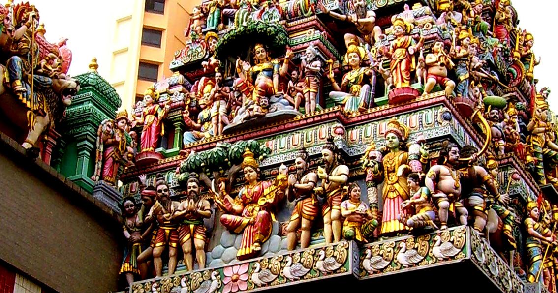 Acoperișul Templului Sri Veeramakaliamman, Singapore