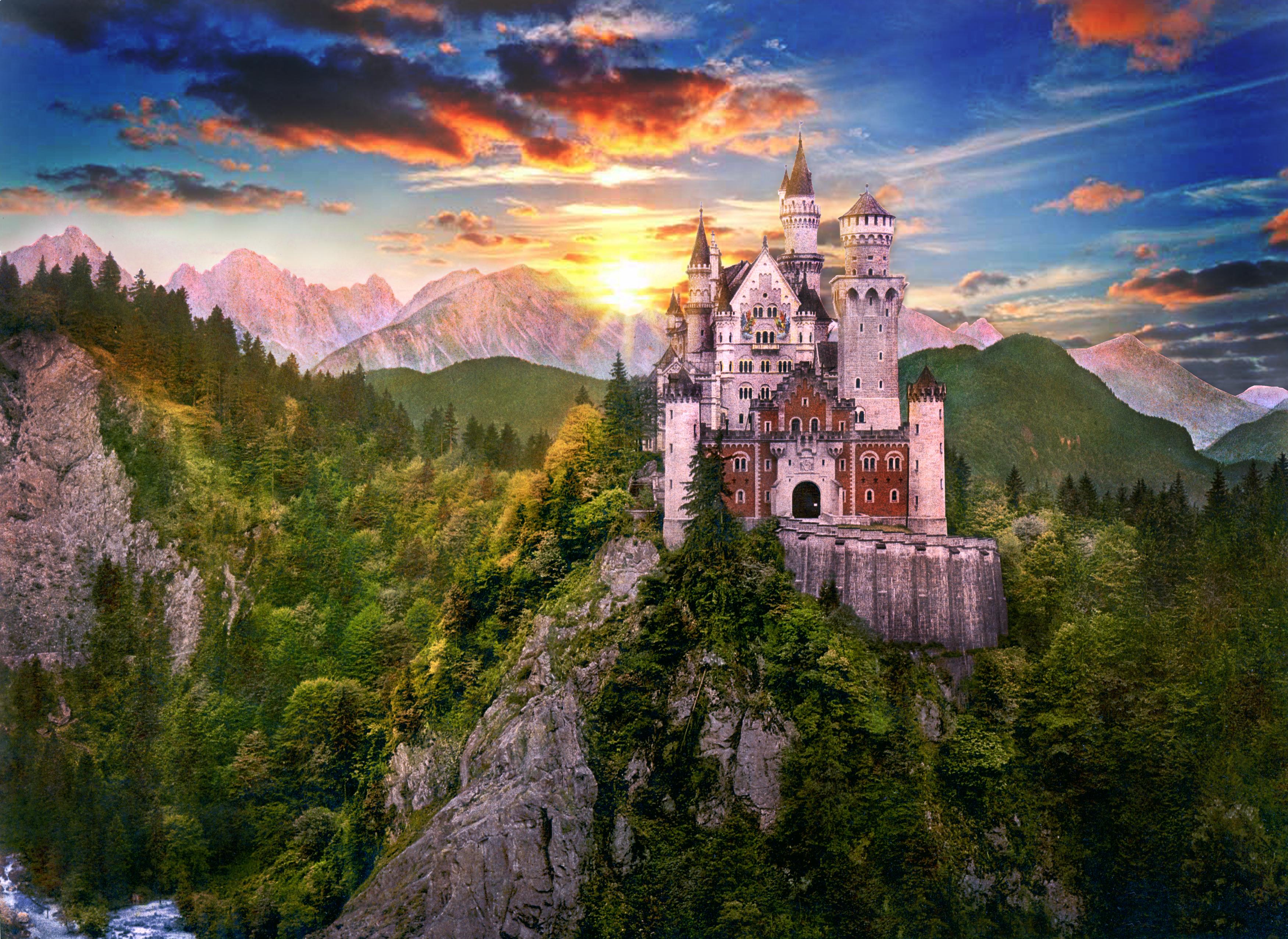 Apus de soare la Castelul Neuschwanstein