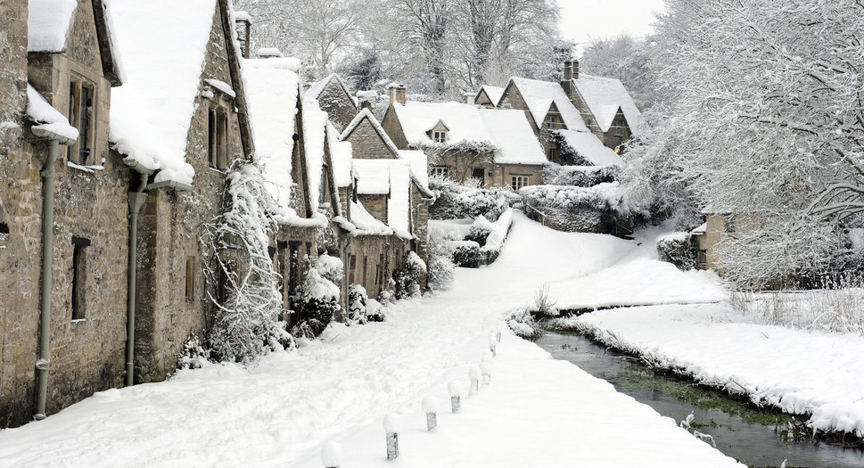 Bibury, iarna