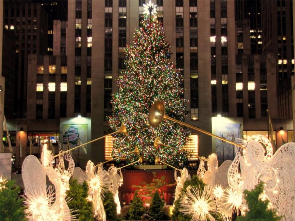 Brad de Crăciun în New York