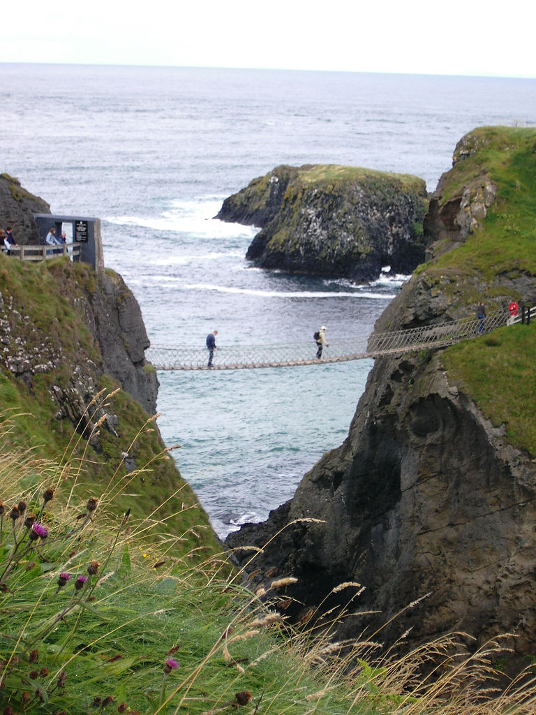 Carrick-a-Rede Rope Bridge, Irlanda de Nord