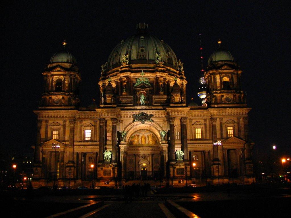 Catedrala din Berlin, noaptea