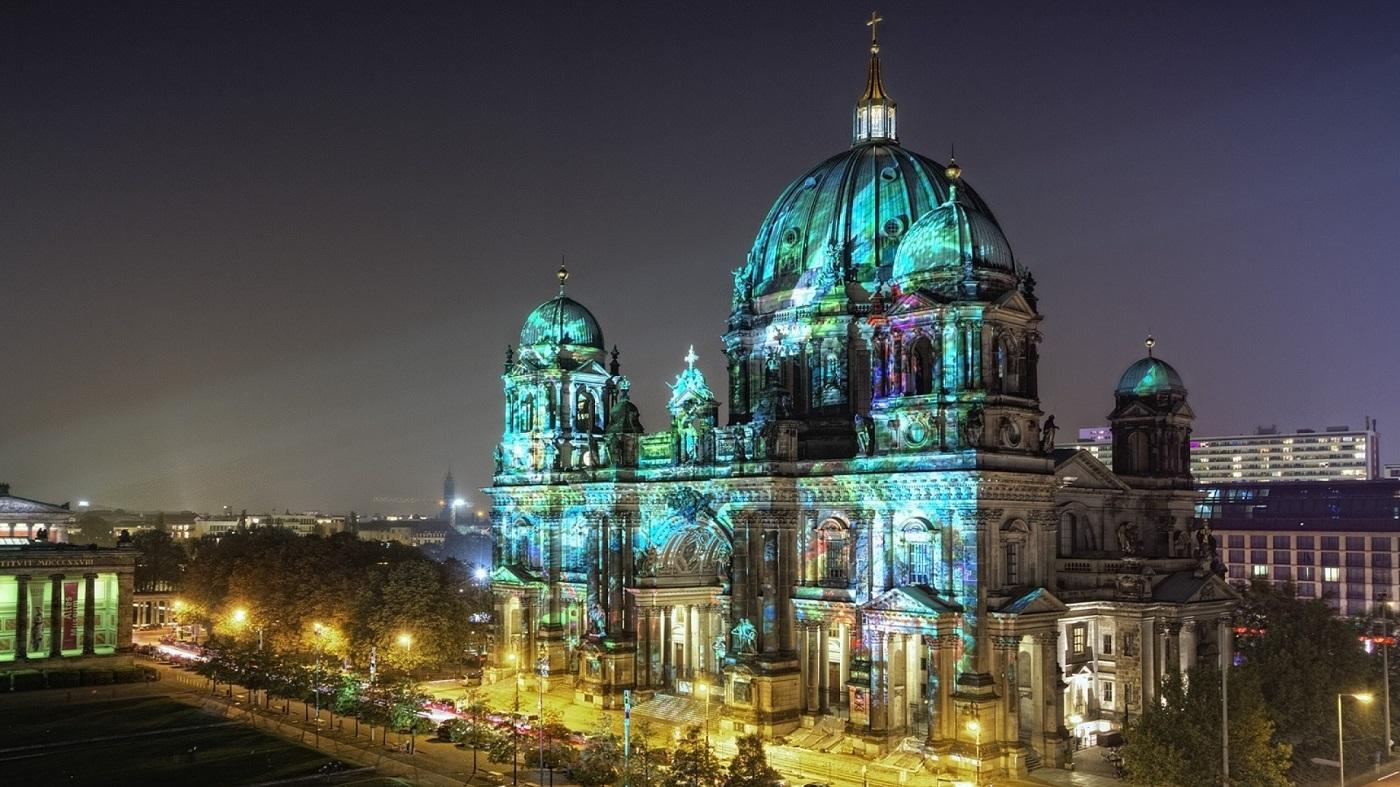 Catedrala din Berlin timpul Festivalului Luminilor