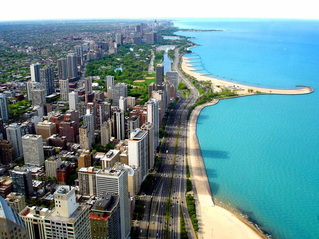 Chicago, Lacul Michigan