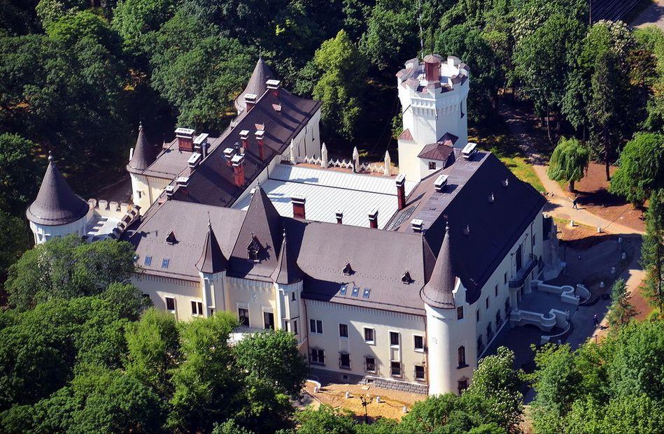 Castelul Karoly, vedere de sus
