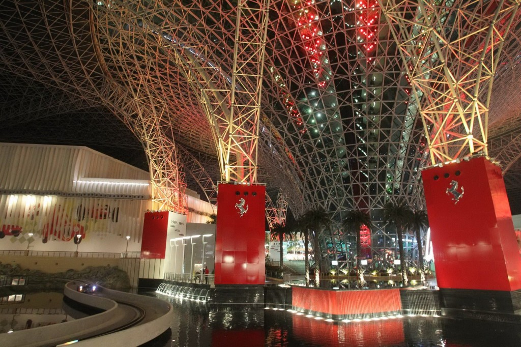 Detaliu din interiorul Ferrari World