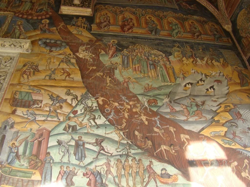 Frescă de la Mânăstirea Horezu