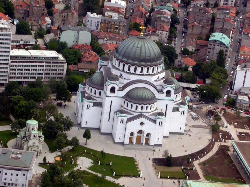 Imagine de ansamblu a Catedralei Sfântul Sava