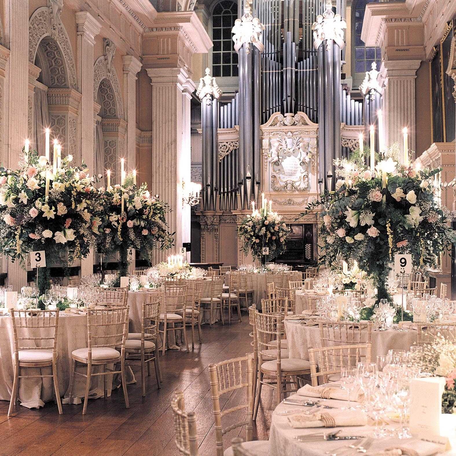 Aranjament pentru nuntă la Palat
