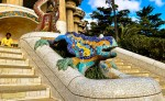 Mozaicurile din Parcul Guell au o frumusețe unică