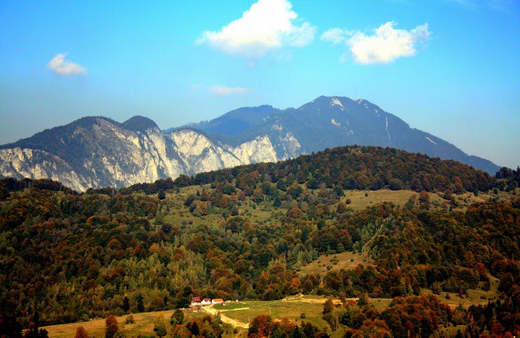 Panoramă de toamnă în apropiere de Pârâul Rece