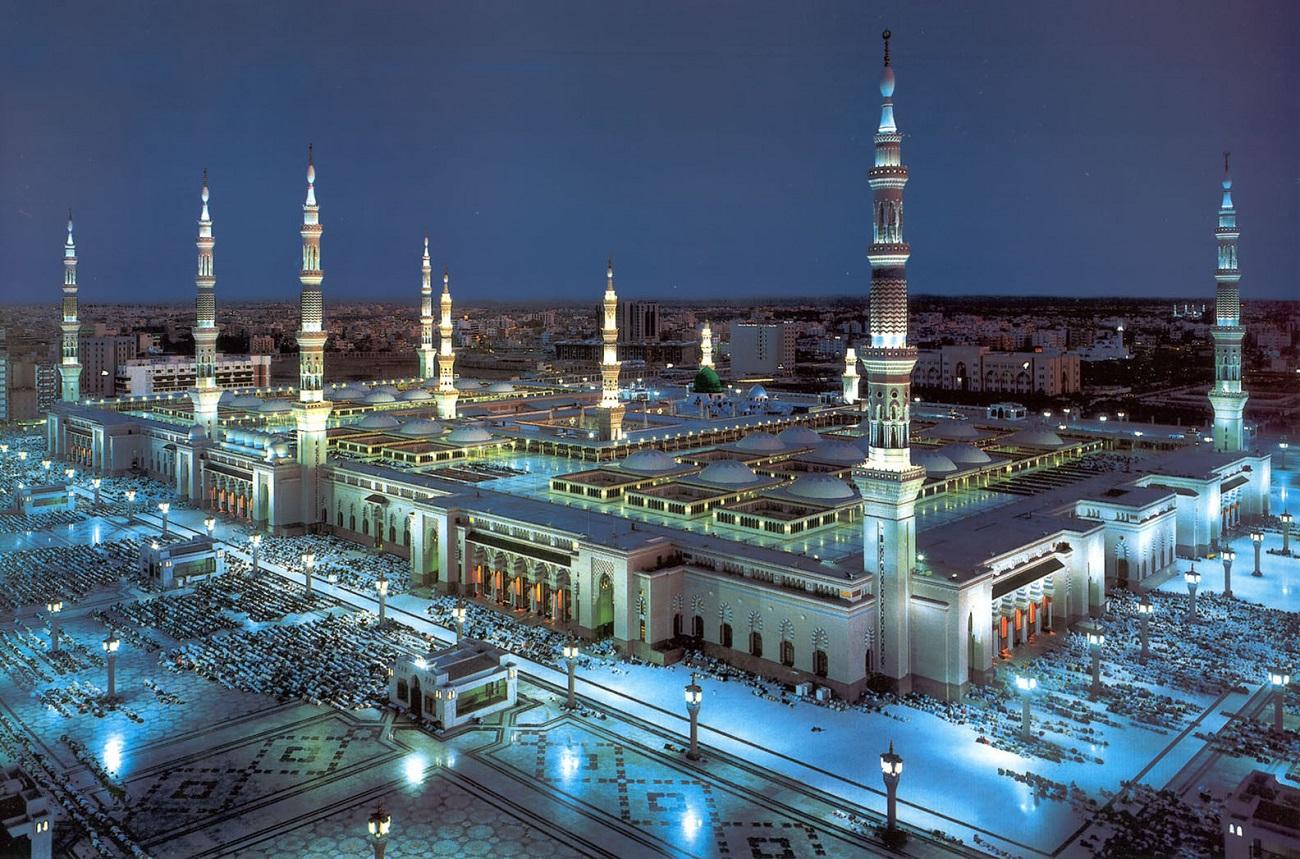 Panorama Moscheei Sfinte de la Mecca