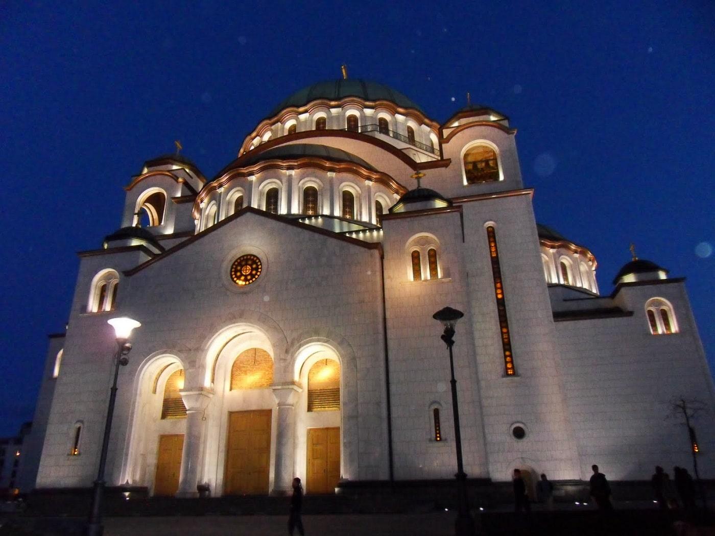 Partea laterală a Catedralei Sfântul Sava