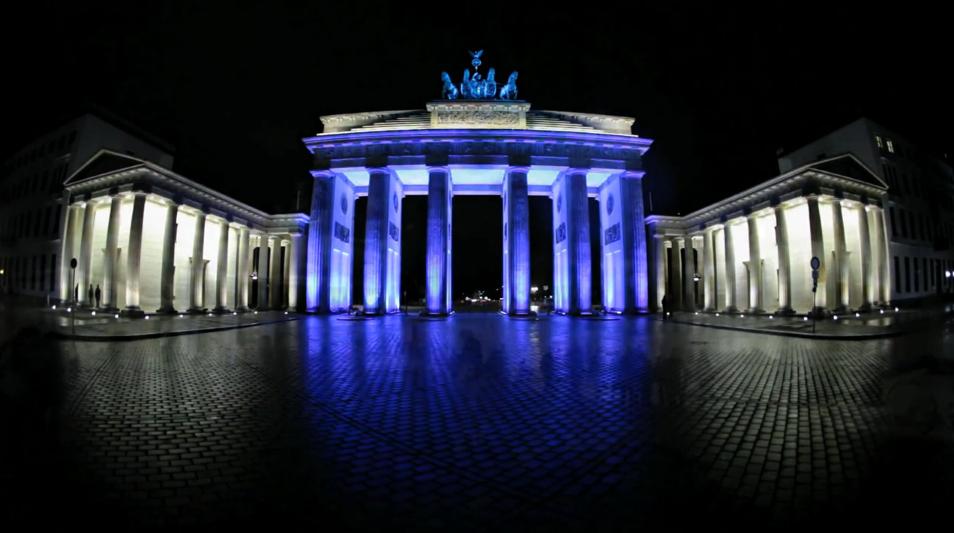 Poarta Brandenburg în timpul Festivalului Luminilor din 2010