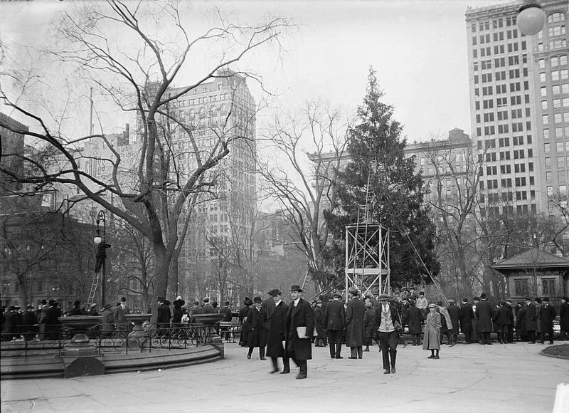 Pomul de Crăciun din Madison Square Park, New York, 1910