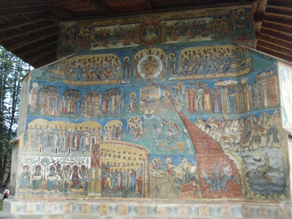 Raiul și iadul pe peretele de la Mânăstirea Voroneț