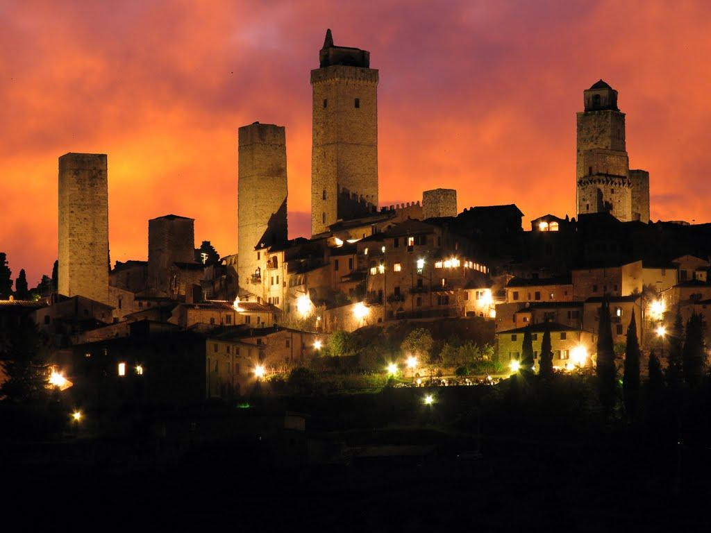 San Gimignano, noaptea