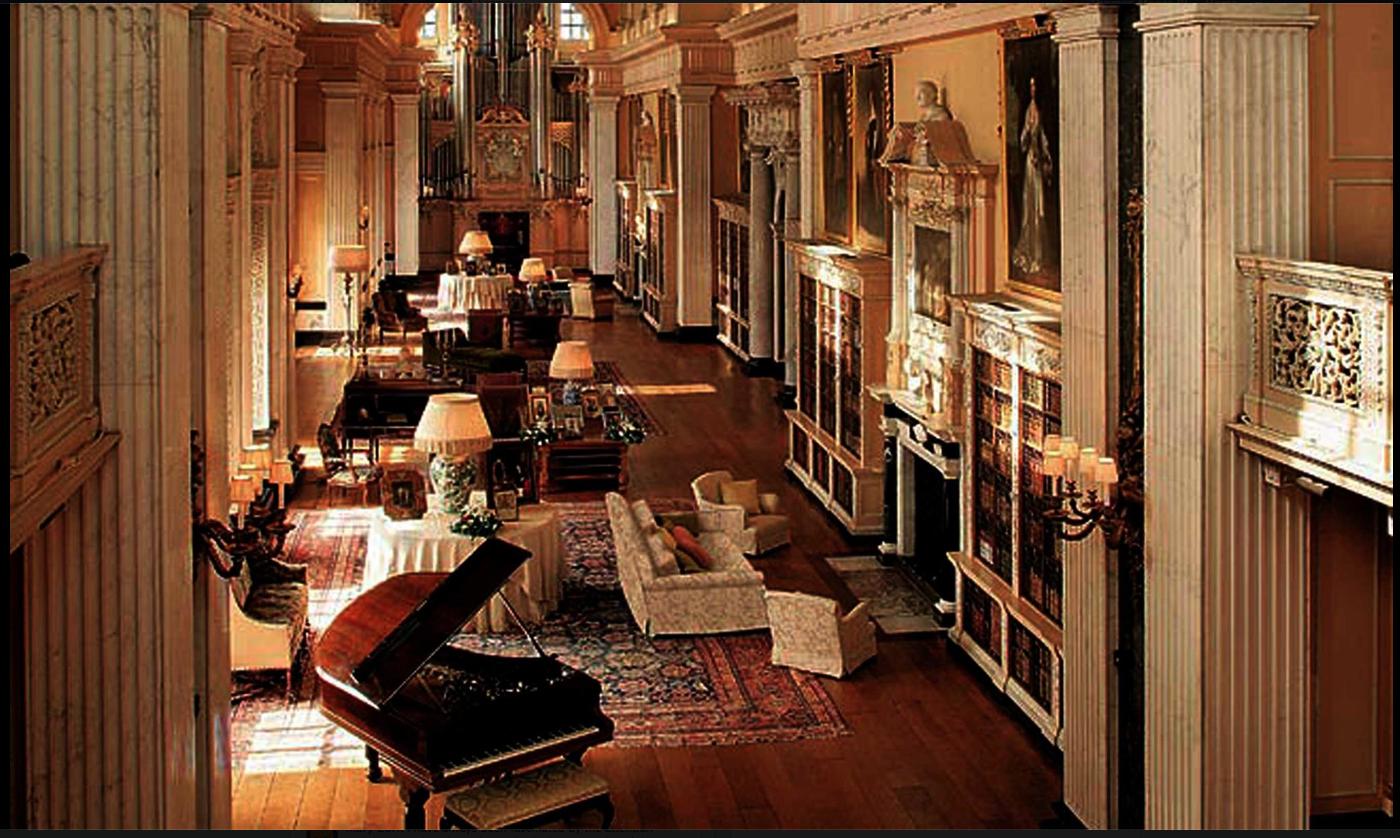 În interiorul Palatului Blenheim