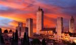 Turnurile din San Gimignano chiar sunt un punct de reper al zonei