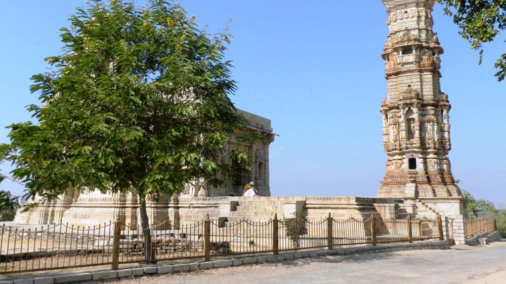 Unul din turnurile din fortul Chittorgarh