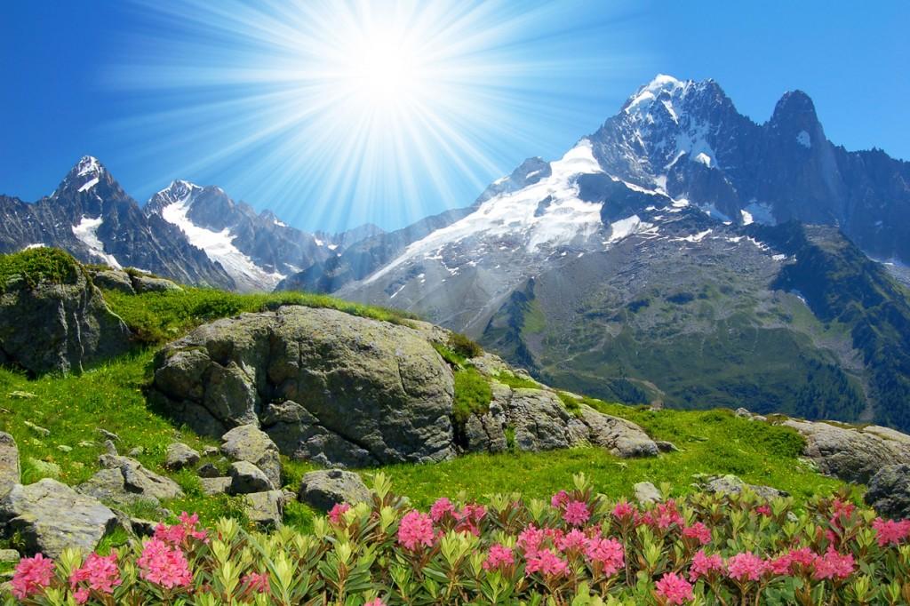 Vara soarele strălucește la Chamonix