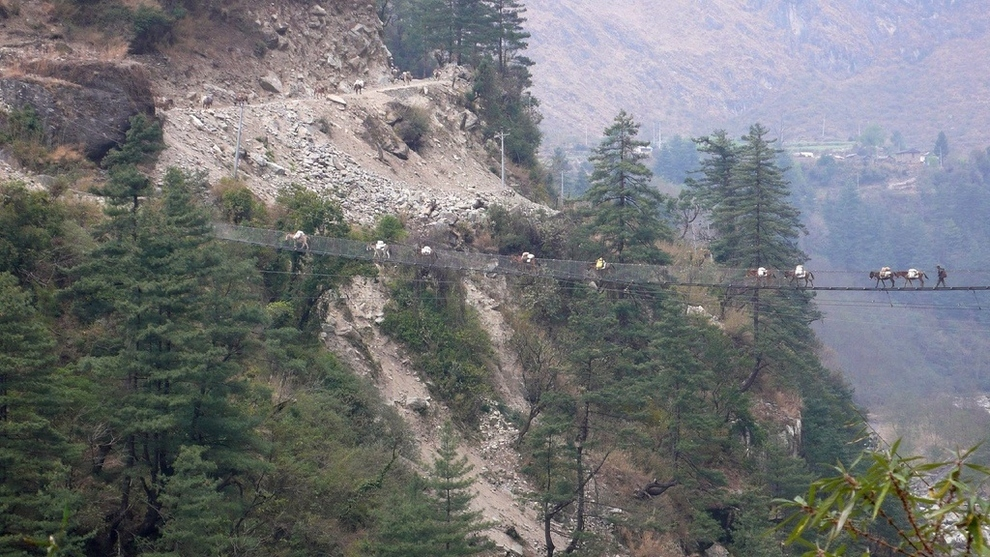 Hanging Bridge of Ghasa, Nepal