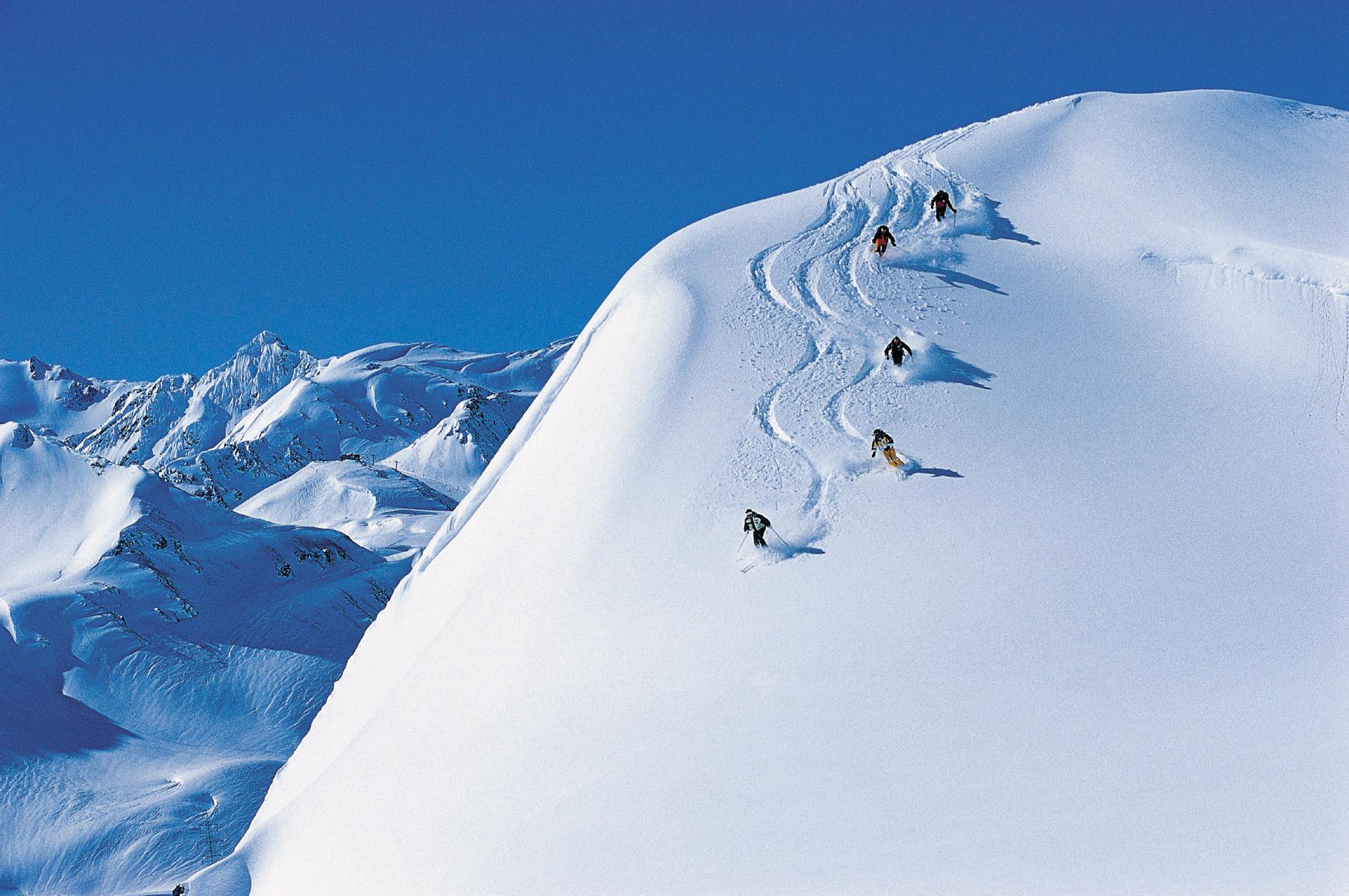 Zăpezi fine în Austria, Staţiunea st. Anton