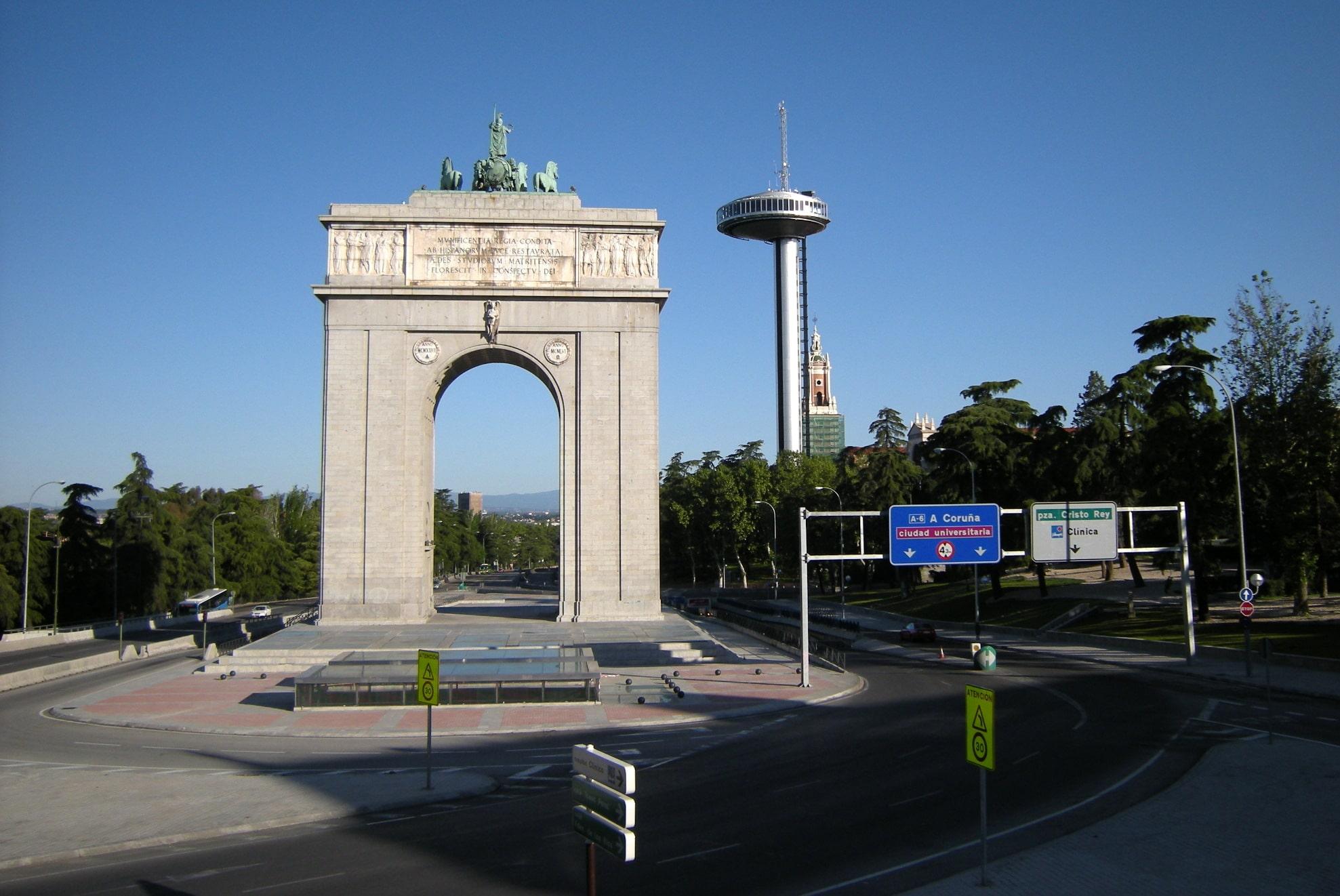 Arco de la Victoria din oraşul Madrid