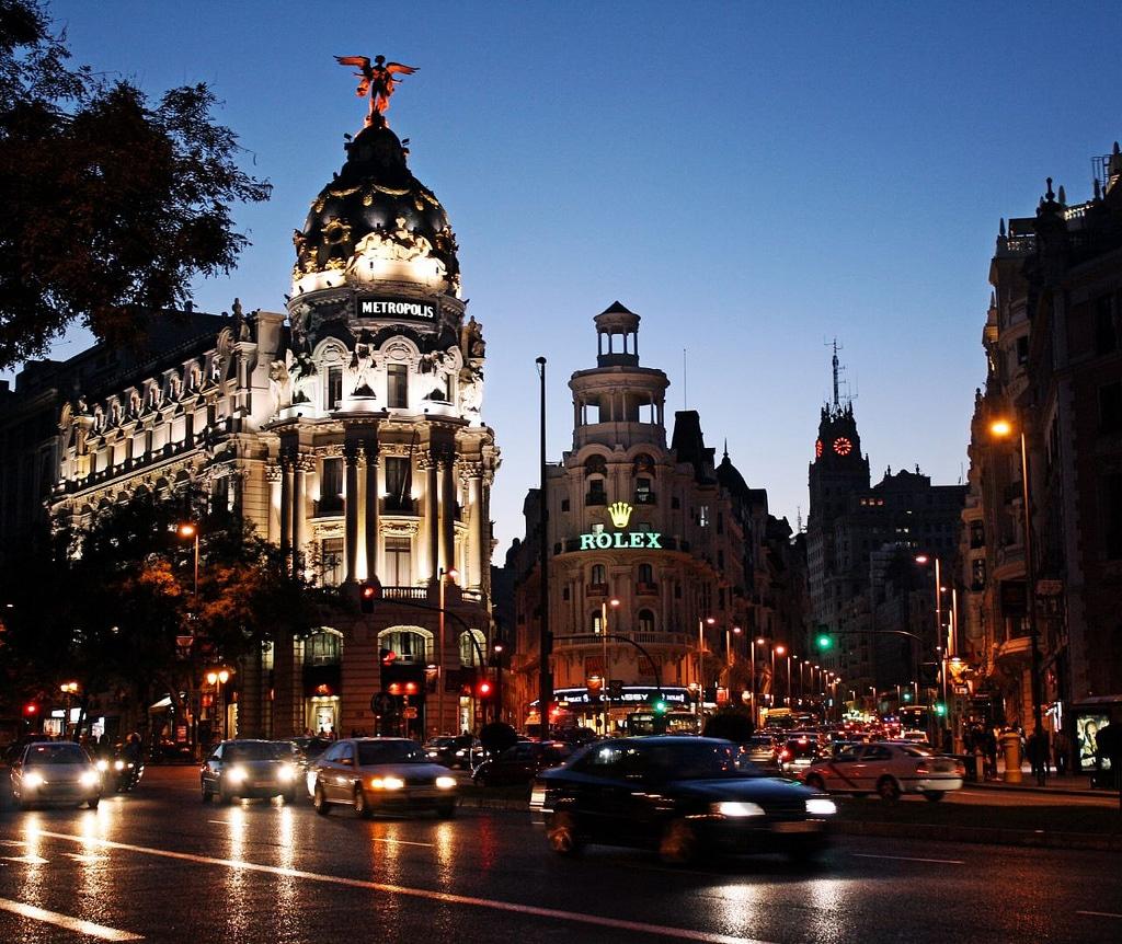 Madrid, renumit pentru viaţa de noapte