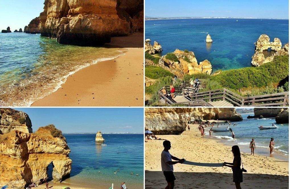 Plajă cu nisip fin din Algrave, Portugalia