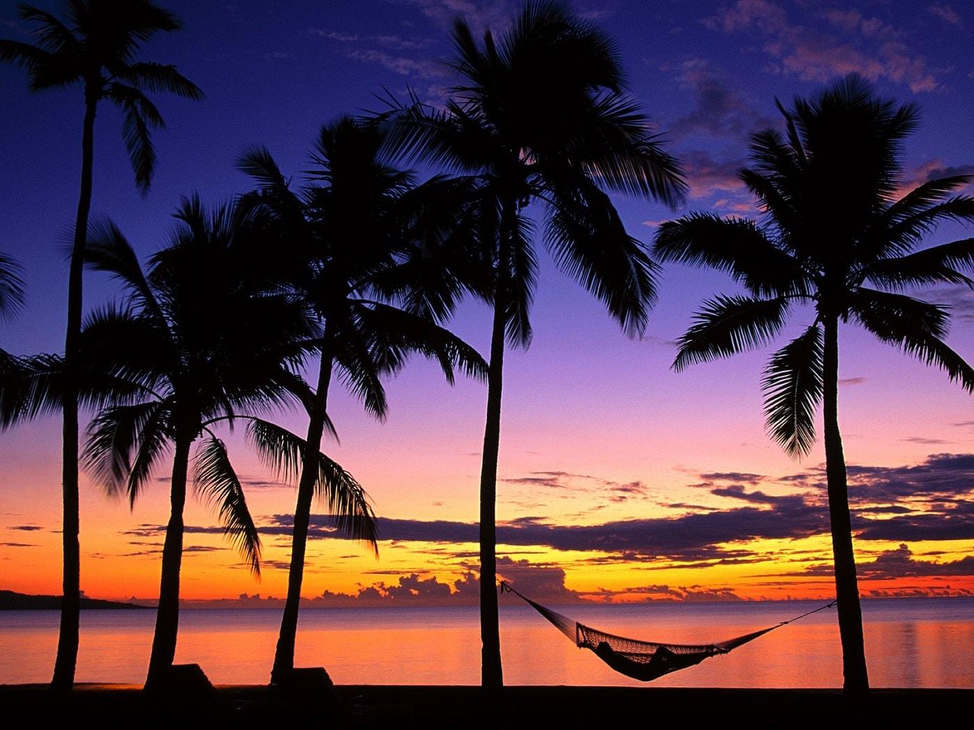 Apus de soare in Insula Denarau, Fiji