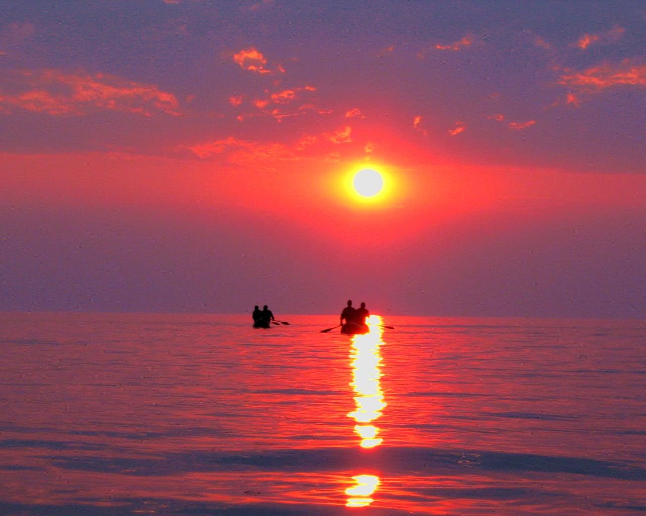 Apus de soare pe Lacul Nyasa