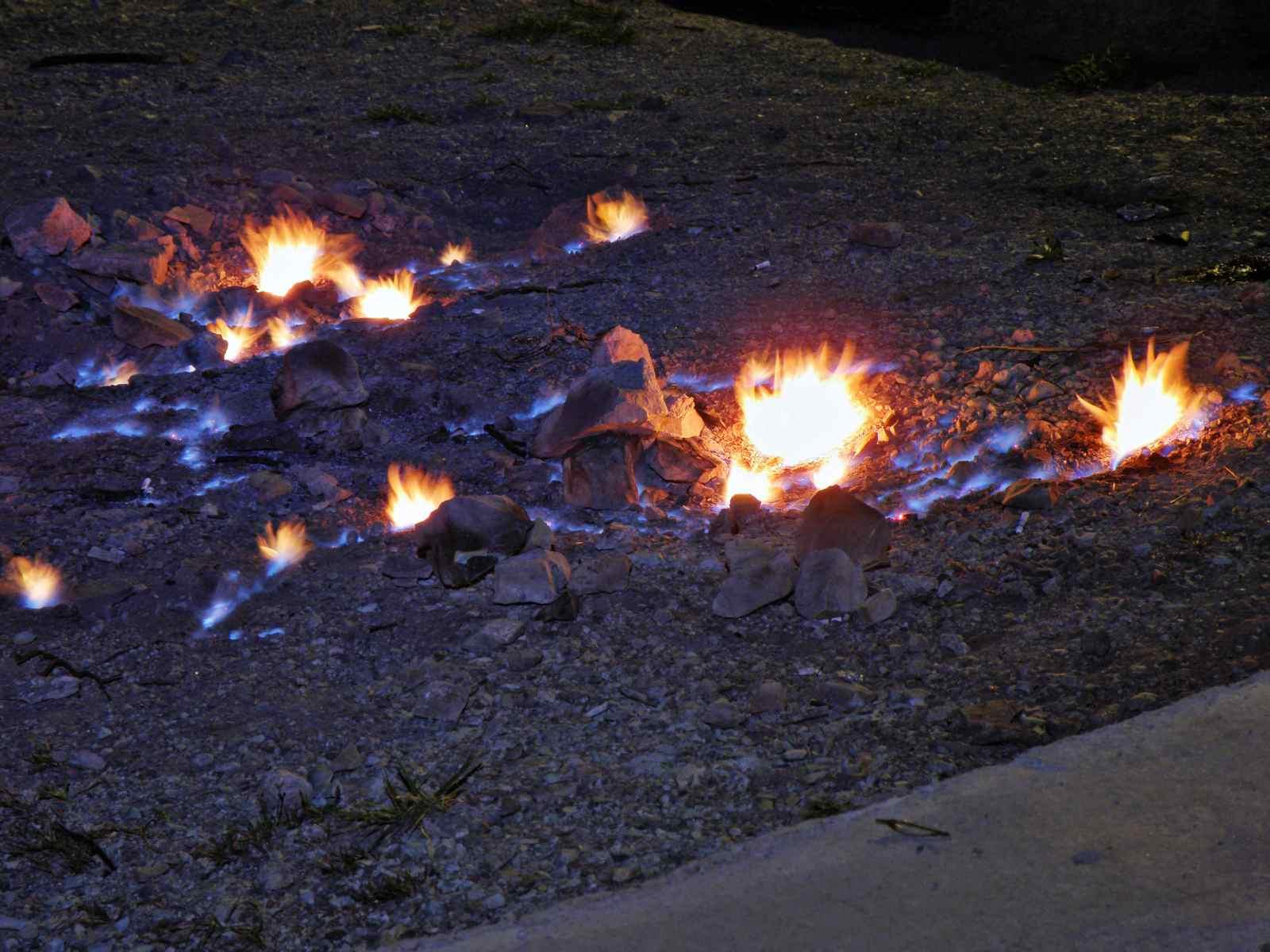Focurile vii, un fenomen spectaculos