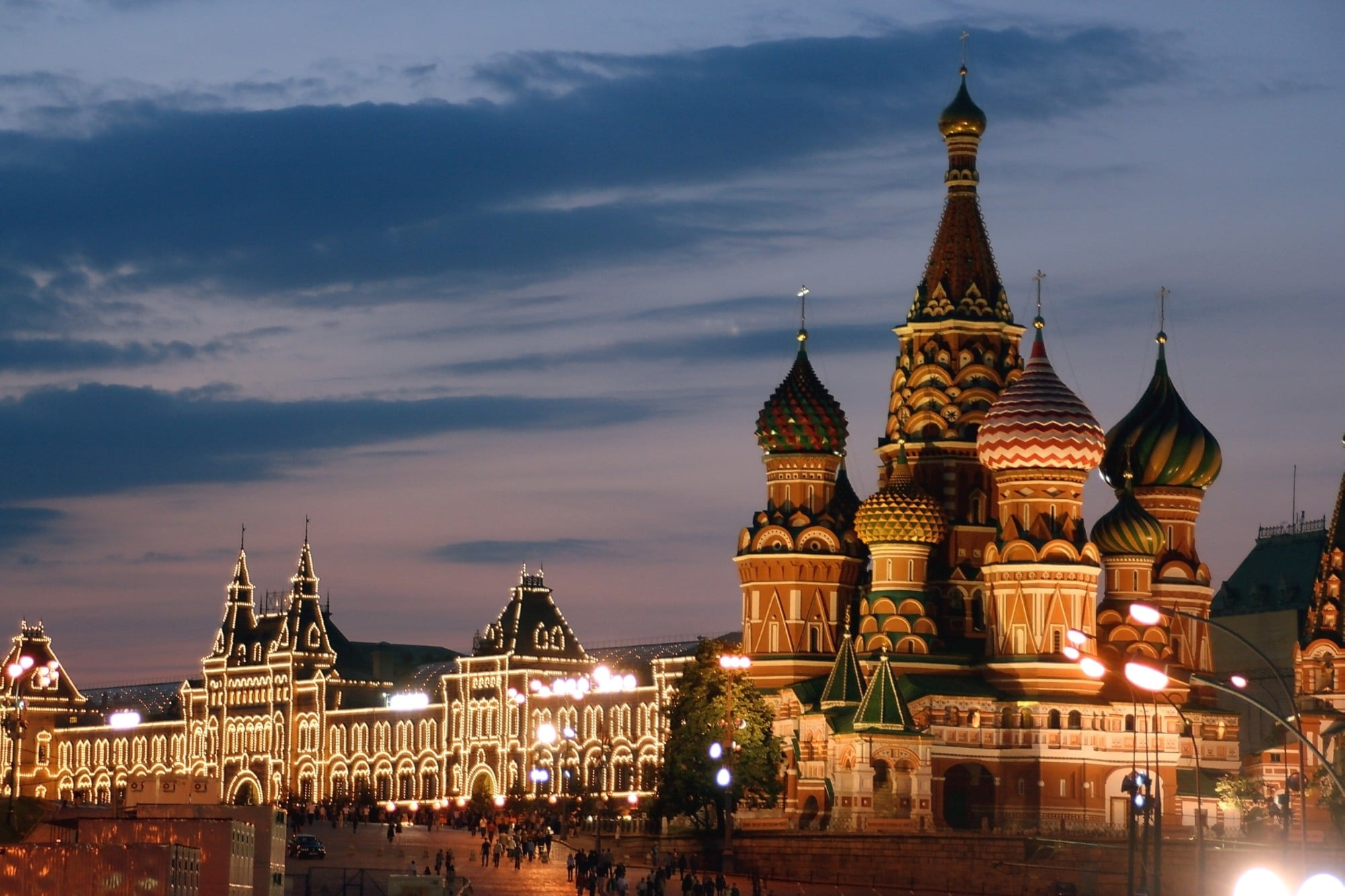 Catedrala Sfântul Vasile, seara