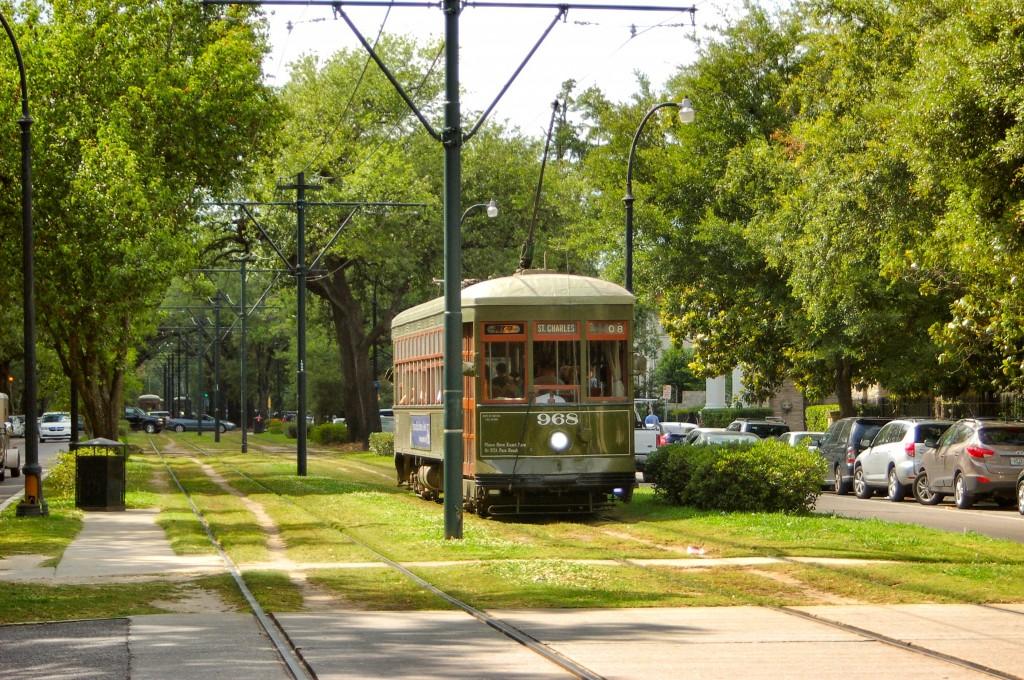 Cu tramvaiul prin acest loc înverzit