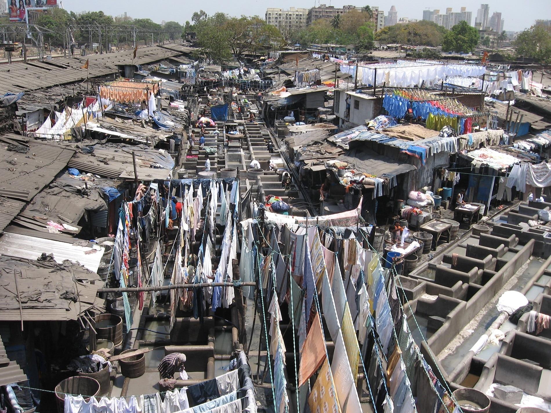 Spălătoria  în aer liber Dhobi Ghat, Mumbai