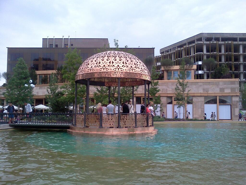 Foișorul din centrul parcului