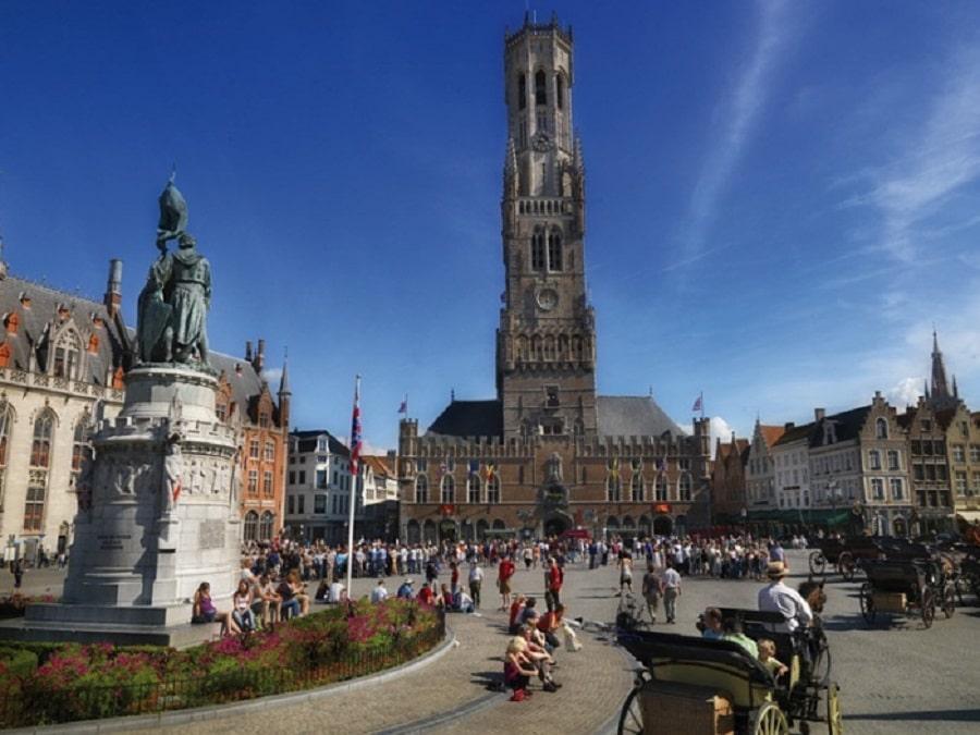 Centrul Istoric din Bruges, parte a patrimoniului mondial UNESCO.