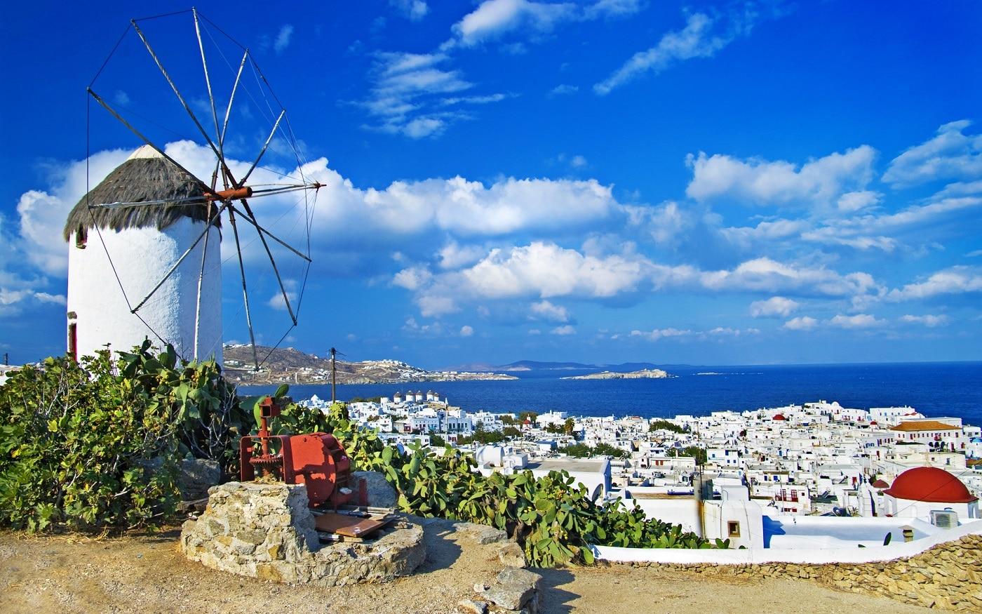 Moară de vânt în Mykonos