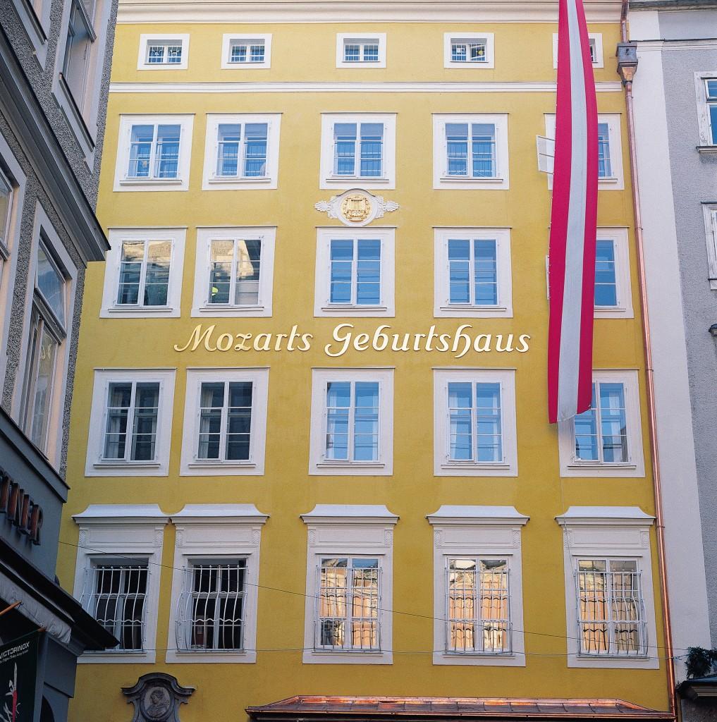 Casa în care s-a născut Mozart, numită şi Casa Dansului
